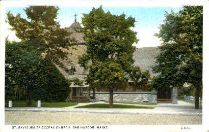 St. Saviours Episcopal Church - Bar Harbor, Maine ME Postcard