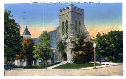 Church of the Holy Redeemer - Bar Harbor, Maine ME Postcard