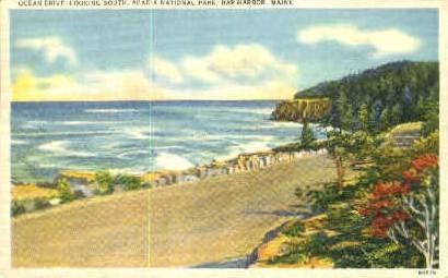Ocean Drive - Bar Harbor, Maine ME Postcard