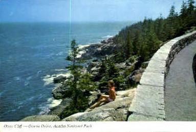 Otter Cliff - Bar Harbor, Maine ME Postcard