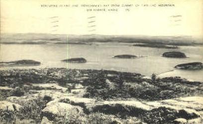 Porcupine Islands & Frenchman's Bay - Bar Harbor, Maine ME Postcard