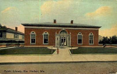Public Library - Bar Harbor, Maine ME Postcard