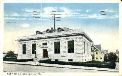 Post Office - Bar Harbor, Maine ME Postcard