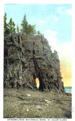 Cathedral Rock - Bar Harbor, Maine ME Postcard