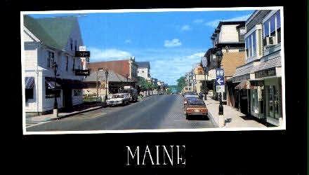 Main St. - Bar Harbor, Maine ME Postcard