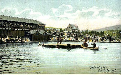 Swimming Pool - Bar Harbor, Maine ME Postcard