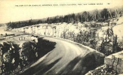 The Deep Cut, Cadillac Mountian Road - Bar Harbor, Maine ME Postcard