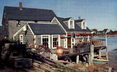 Fisherman's Shack - Bar Harbor, Maine ME Postcard
