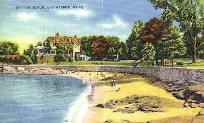 Bathing Beach - Bar Harbor, Maine ME Postcard