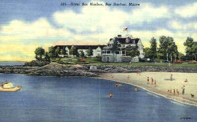 Hotel Bar Harbor - Maine ME Postcard