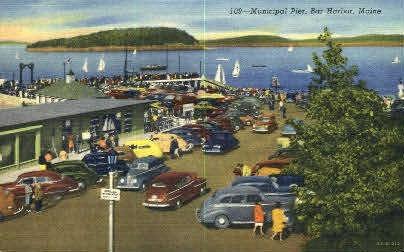 Municipal Pier - Bar Harbor, Maine ME Postcard
