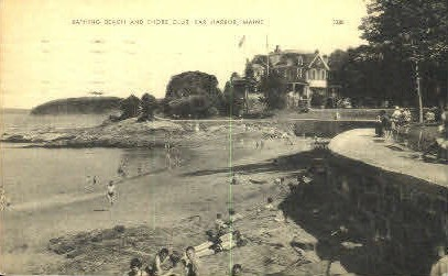 Bathing Beach & Shore Club - Bar Harbor, Maine ME Postcard