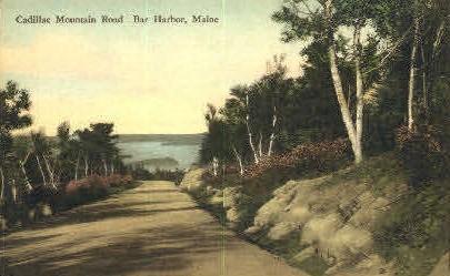 Cadillac Mountain Road - Bar Harbor, Maine ME Postcard