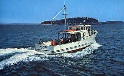 The Dolphin Deep Sea Fishing Boat - Bar Harbor, Maine ME Postcard