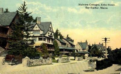 Malvern Cottages - Bar Harbor, Maine ME Postcard