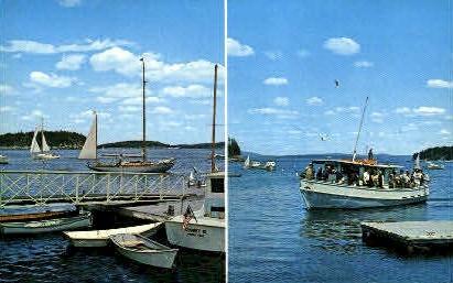 Frenchman's Bay - Bar Harbor, Maine ME Postcard