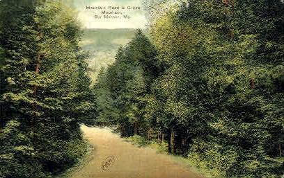 Mountain Road - Bar Harbor, Maine ME Postcard