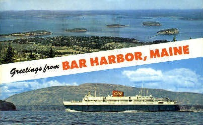 Greetings From  - Bar Harbor, Maine ME Postcard