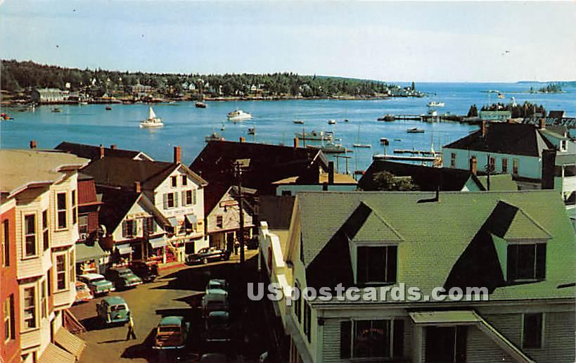 Bank Building - Boothbay Harbor, Maine ME Postcard