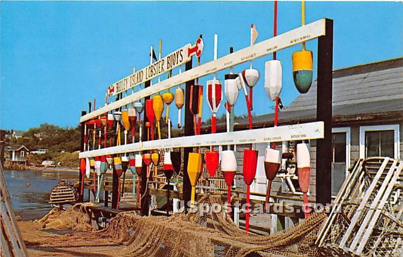 Colorful Lobster Pot Buoys - Bailey Island, Maine ME Postcard