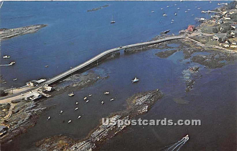 Bailey Island Bridge - Maine ME Postcard