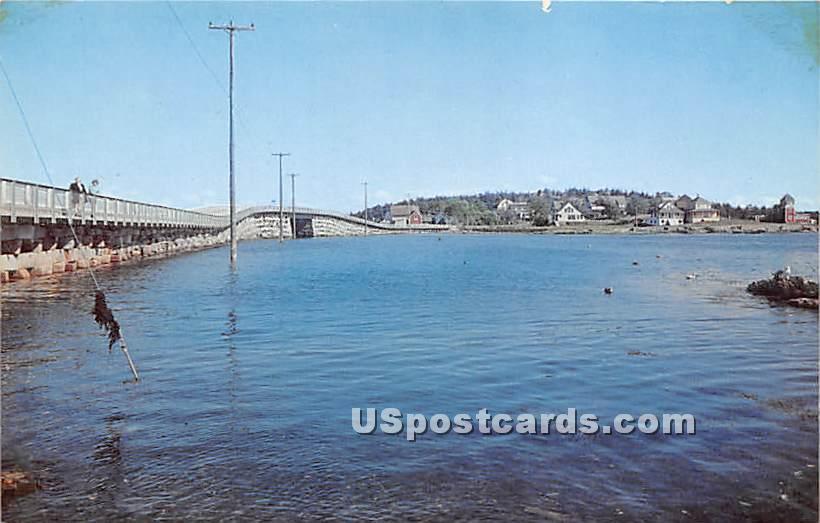 Bailey Island Bridge showing Orr's Island - Maine ME Postcard