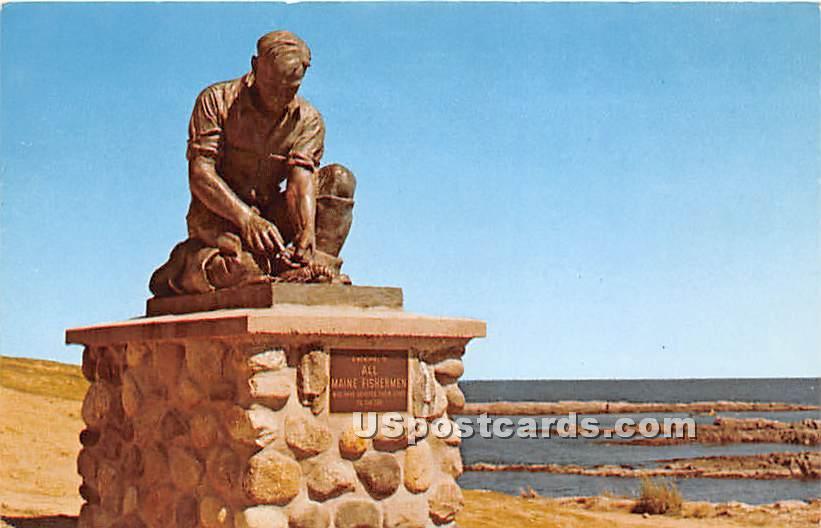 Fishermen's Memorial - Bailey Island, Maine ME Postcard