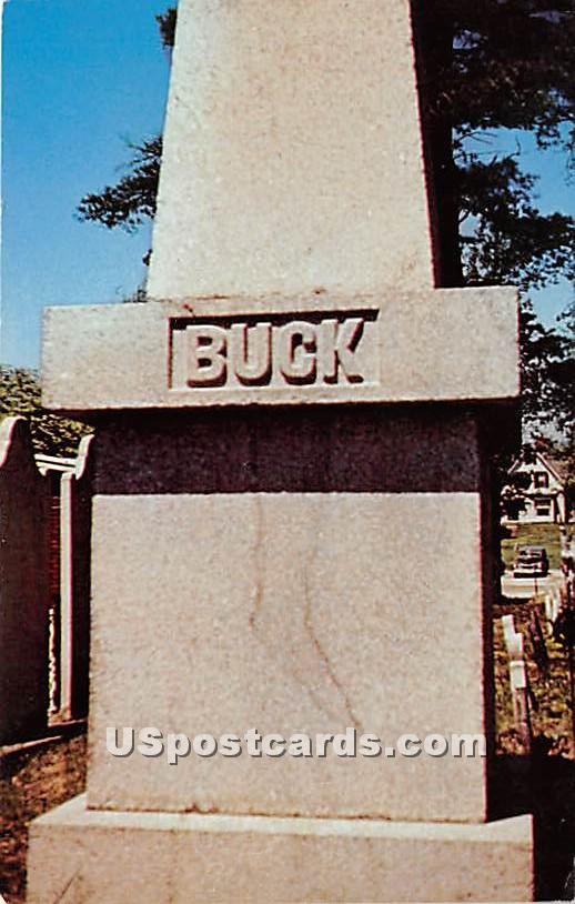 The Monument of Colonel Jonathan Buck Founder of Bucksport - Maine ME Postcard