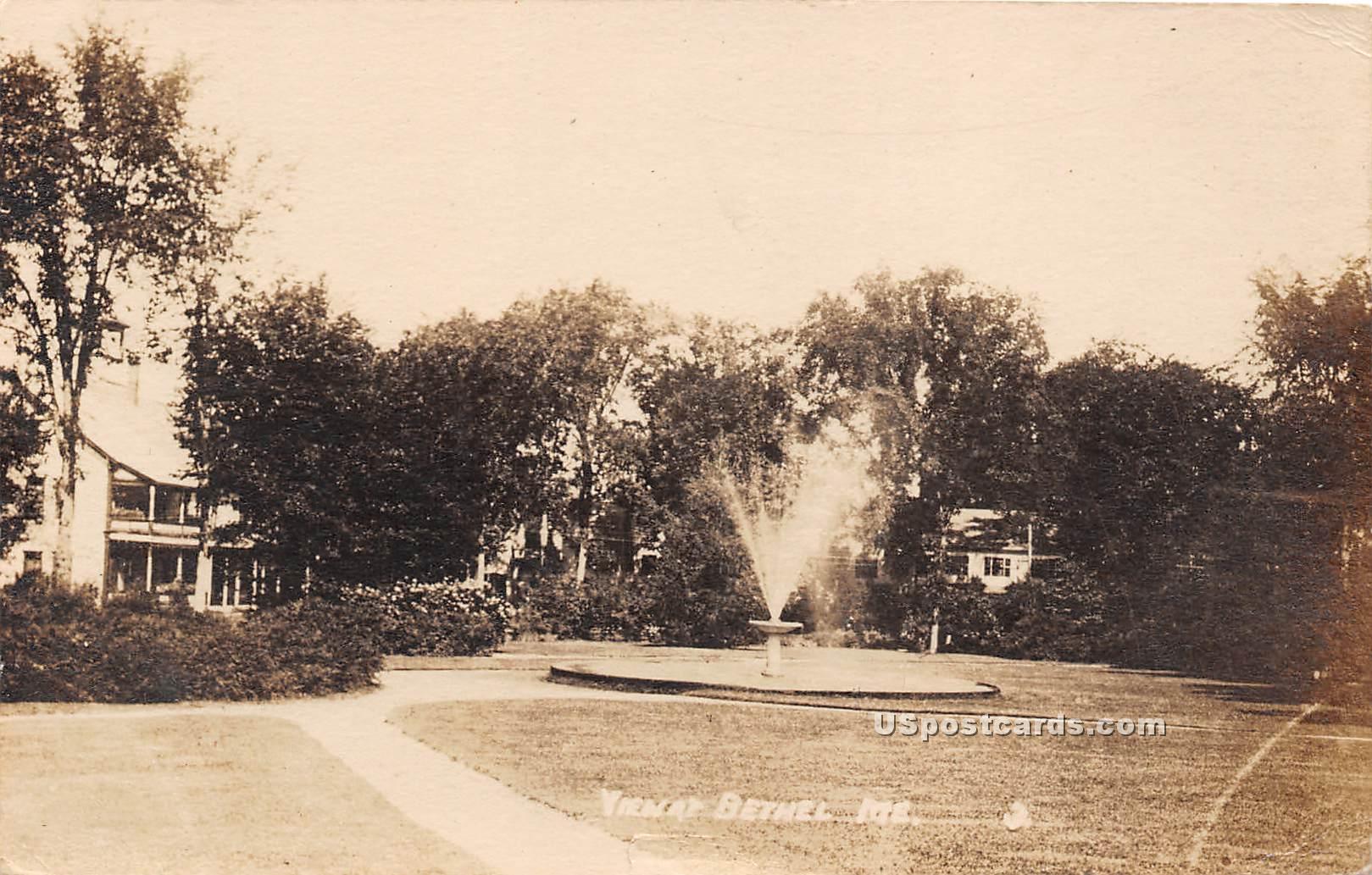 Water Fountain - Bethel, Maine ME Postcard