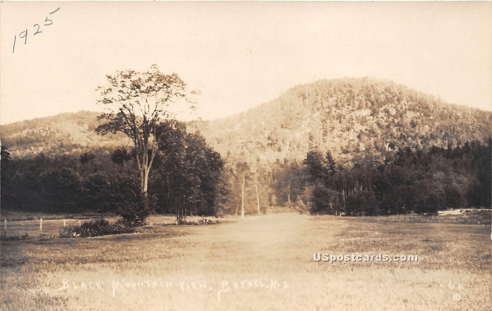 Black Mountain View - Bethel, Maine ME Postcard