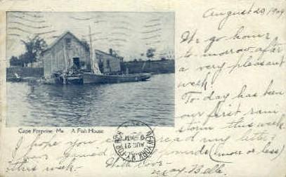 A Fish House - Cape Porpoise, Maine ME Postcard