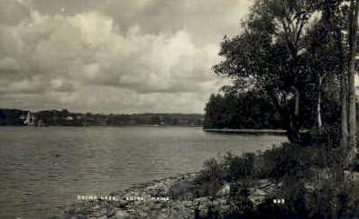 Real Photo - China Lake - Maine ME Postcard