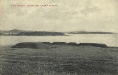 Fort Madison - Castine, Maine ME Postcard