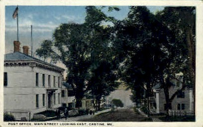 Post Office - Castine, Maine ME Postcard