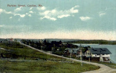 Perkins St. - Castine, Maine ME Postcard