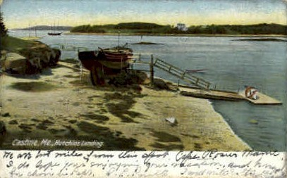 Hutchins Landing - Castine, Maine ME Postcard