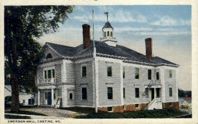 Emerson Hall - Castine, Maine ME Postcard