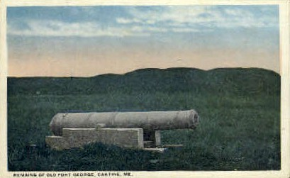 Remains of Old Fort George - Castine, Maine ME Postcard