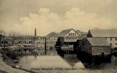 Knox Wollen Mills - Camden, Maine ME Postcard