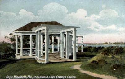 The Lookout, Cape Cottage Casino - Cape Elizabeth, Maine ME Postcard