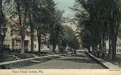 Court St. - Castine, Maine ME Postcard