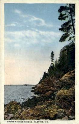 Shore, Dice's Head - Castine, Maine ME Postcard