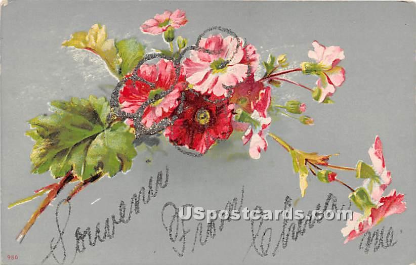 Flowers - China, Maine ME Postcard