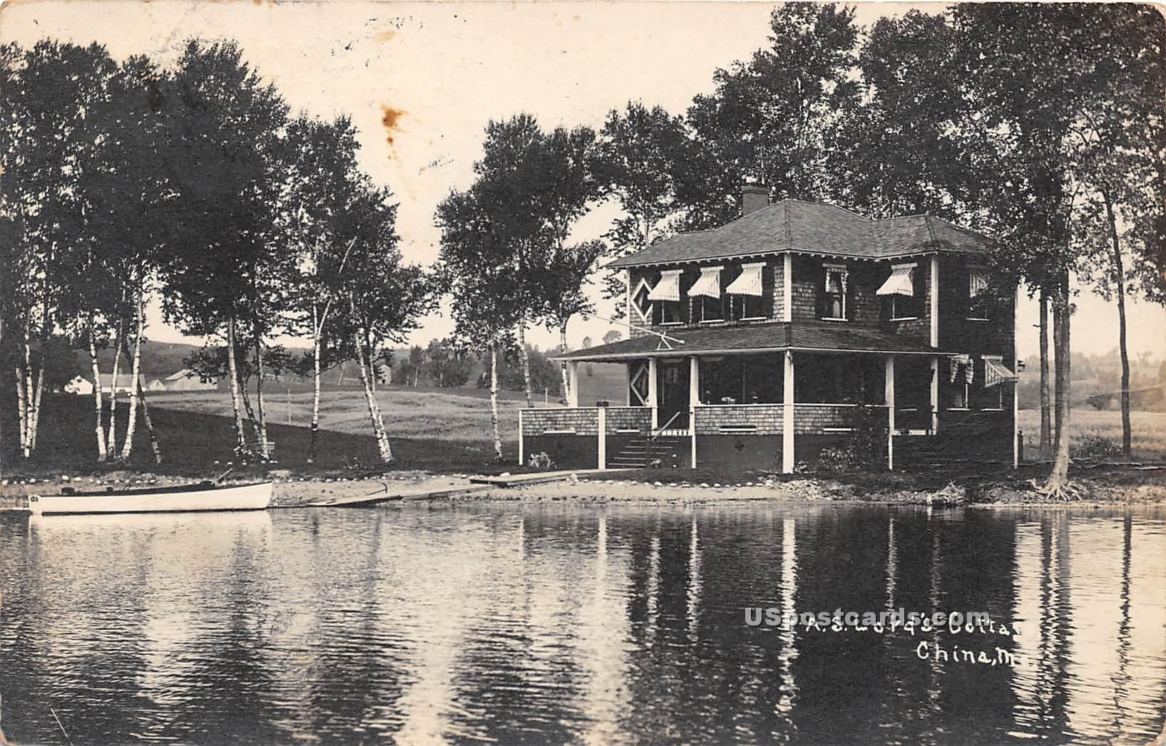 AS Lord's Cottage - China, Maine ME Postcard