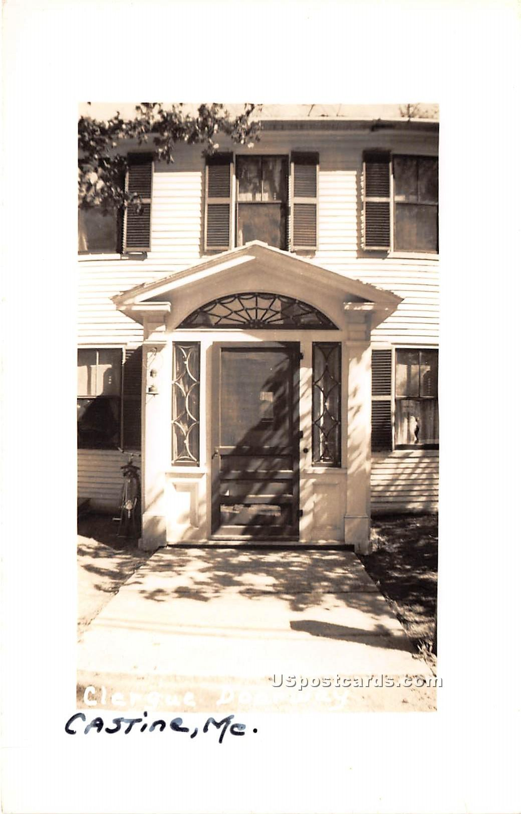 Clergue Doorway - Castine, Maine ME Postcard