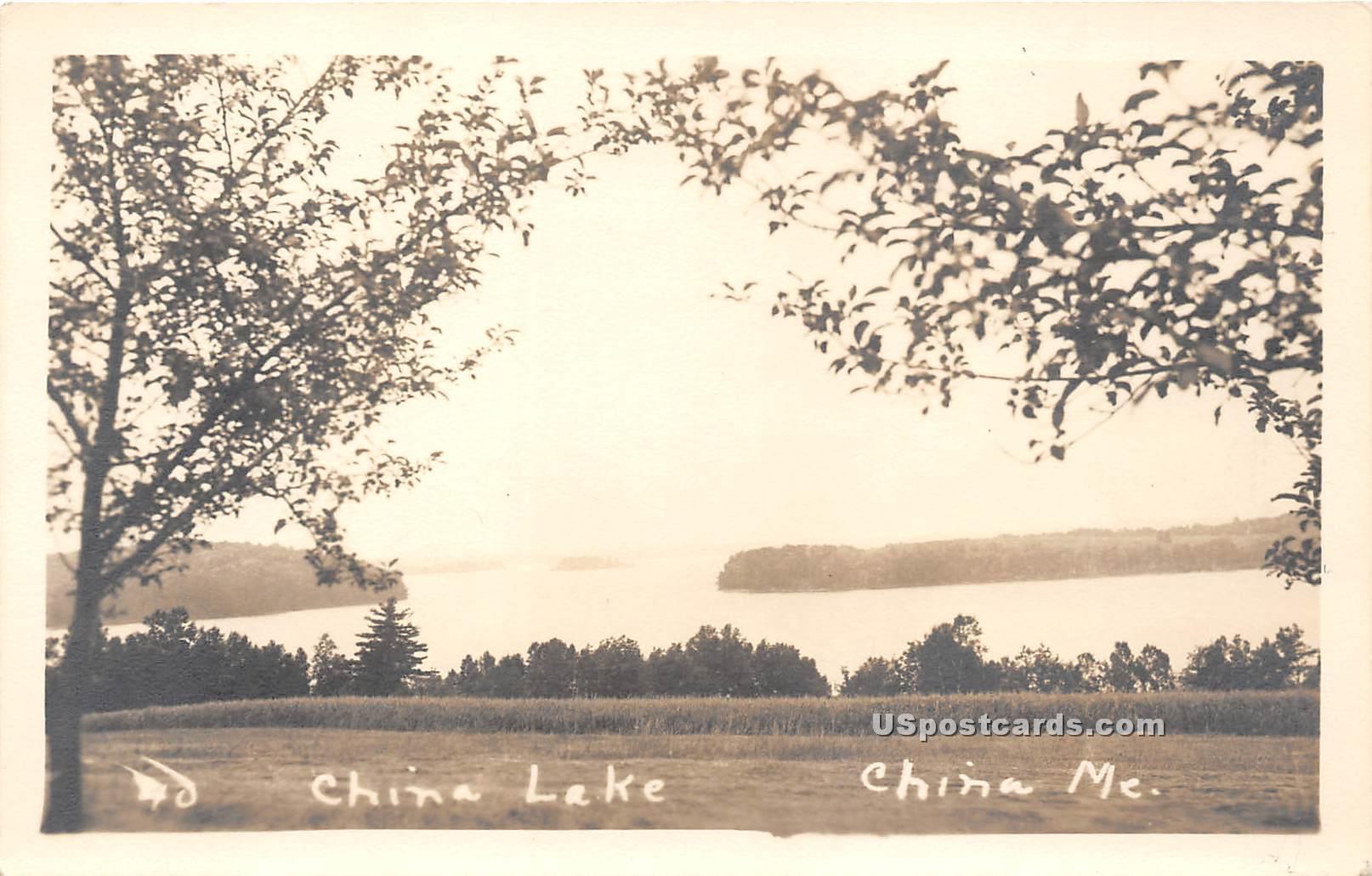 China Lake - Maine ME Postcard