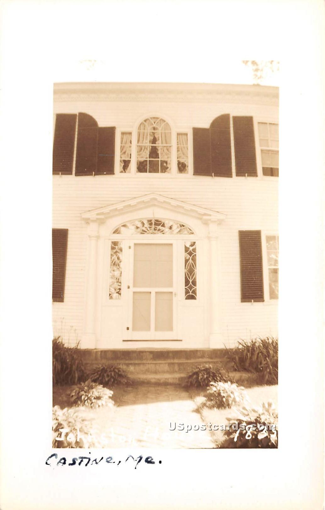 Johnston House - Castine, Maine ME Postcard