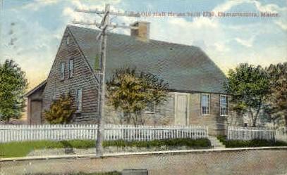 Old Hall House - Damariscotta, Maine ME Postcard