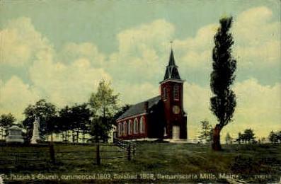 St. Patrick's Church - Damariscotta, Maine ME Postcard