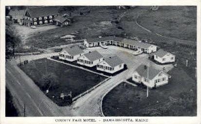 County Fair Motel - Damariscotta, Maine ME Postcard